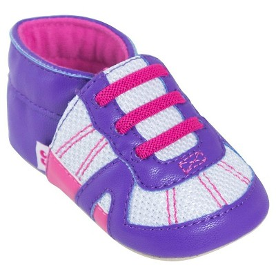 Baby Boys' Solid/Sport Stripe Moccasin Slippers Purple/Pink M (6-12M) - Stride Rite™