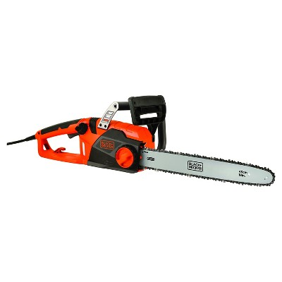 "Black+DECKER™ 18"" 15 Amp Corded Chainsaw with Tool Free Tensioning and Oregon Bar and Chain"