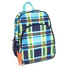French Bull Kids Backpack - Plaid Pattern