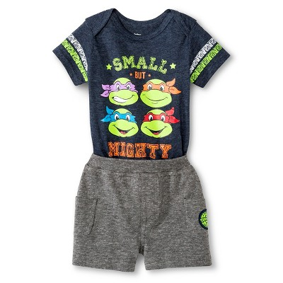 Baby Boys' 2 Piece Teenage Mutant Ninja Turtle Set - Blue/Grey 3-6 M