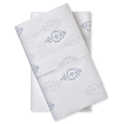 Pillow Case Set Damask (King) White - Simply Shabby Chic®