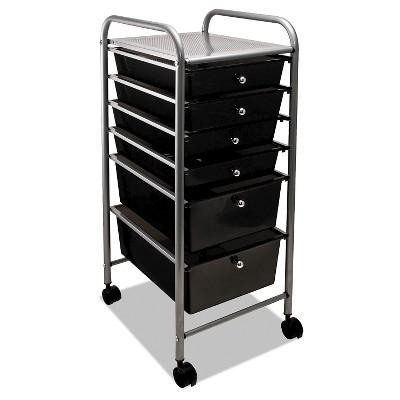 "Portable Cart Drawer Organizer, 36"" high 13"" wide - Gray"