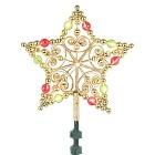 """9"""" LED Beaded Star Tree Top"""