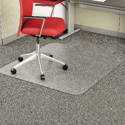 """Deflecto EconoMat Floor Mat, 36"""" x 48"""" with lip, low pile - Clear"""