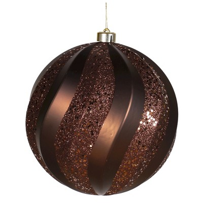 "8"" Matte-Glitter Swirl Ball-Chocolate"