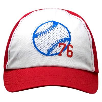 Toddler Boys' 76 Baseball Print Baseball Hat White/Red 2T-5T - Circo™