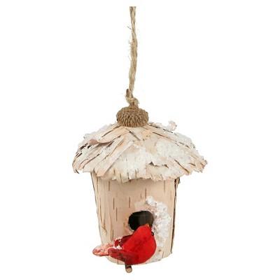 "4"" Snow Birch Bird House"