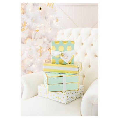 beautiful mint and gold gift wrap