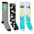 Women's Knee-High Socks Outer Space 3-Pack Black 4-10 - Xhilaration™