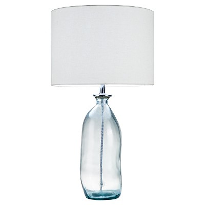 Threshold™ Recycle Glass Lamp (Ca Version) - Blue
