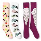 Women's Knee-High Socks Treats & Sweets 3-Pack White 4-10 - Xhilaration™
