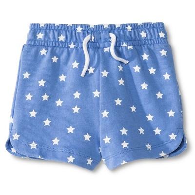 Baby Girls' Star Pattern Knit Short Blue 12M - Circo™