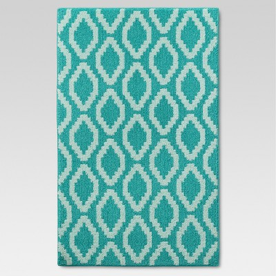 "2'6""X4' Accent Rug Turquoise - Threshold™"