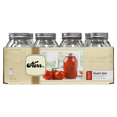 Kerr Regular Mouth 32oz Quart Jar 12ct