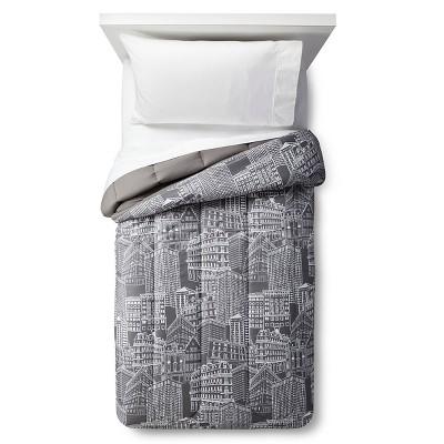 Comforter City Scape (Twin XL) Gray - Room Essentials™