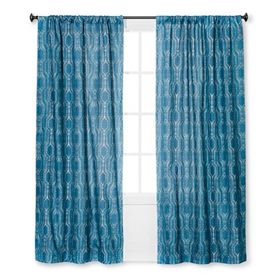 Curtain Panel Braxton Thermaback Light Blocking Navy Print - Eclipse™