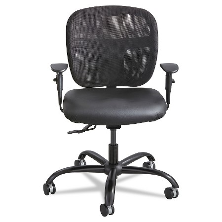 safco vue intensive use mesh task chair black vinyl