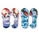 Women's Liner Socks Pineapple & Ferris Wheel 2-Pack Blue 4-10 - Xhilaration™