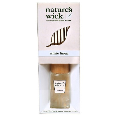 Nature's Wick Reed Diffuser White Linen - 2Oz