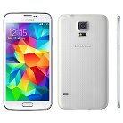 Samsung Galaxy S5 16GB White + T-Mobile SIM Kit $40 Value + OtterBox Commuter Case 77-40119 Blue/Gray