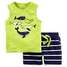 Just One You™Made by Carter's® Toddler Boys' 2 Piece Marine Tank Set Lime/Navy
