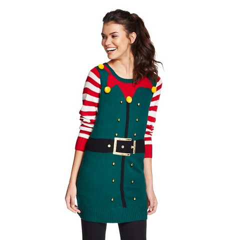 Women s ugly christmas elf tunic sweater 33 degrees product details