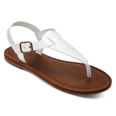 Women's Lady Thong Sandals - White 7.5