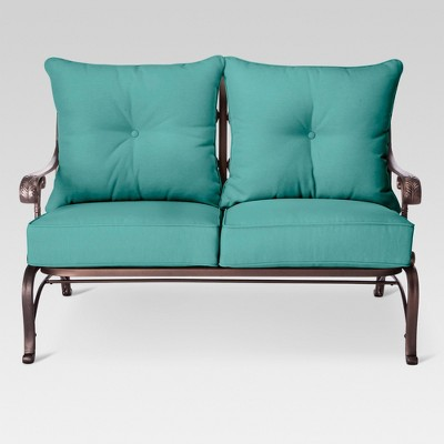 Folwell Cast Aluminum Loveseat-Turquoise  - Threshold™