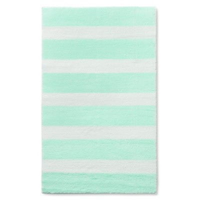 "Stripe Accent Rug Light Mint 48""x66"" - Pillowfort™"
