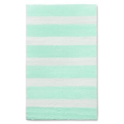 """Stripe Accent Rug Light Mint 30""""x48"""" - Pillowfort™"""