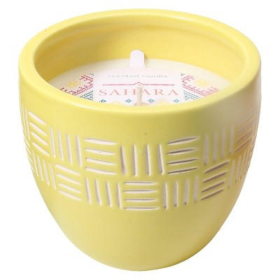 Pottery Candle - Yellow