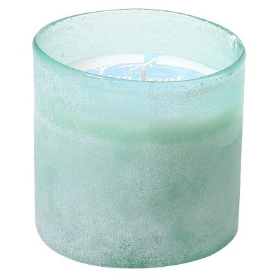Sandblasted Glass Candle - Sea Coral