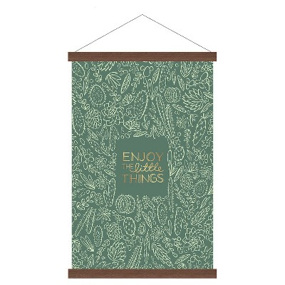 "Enjoy the Little Things Banner 16""x24"" - Fern"