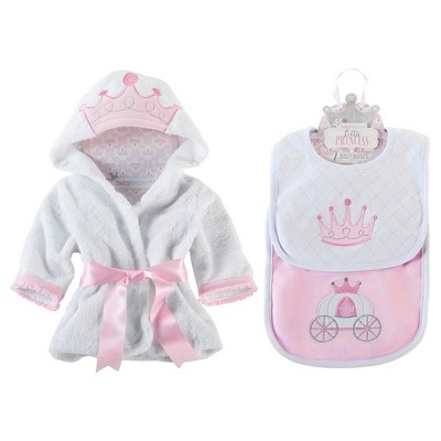 Baby Aspen Princess Bundle of Princess Robe and Princess Bibs