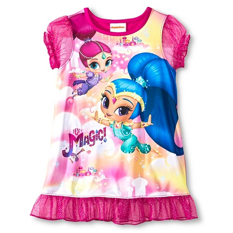 Nickelodeon® Toddler Girls' Shimmer and Shine Nightgown Pink product ...: www.target.com/p/nickelodeon-toddler-girls-shimmer-and-shine...