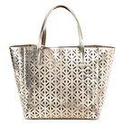 Women's Perforated Tote Handbag