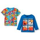 Baby Boys' Sesame Street Long Sleeve T-Shirt - Blue 12M