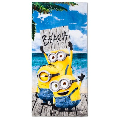 License Minions Beach Towel