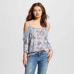 Women's Cold Shoulder Shirts Blue - Xhilaration™ (Juniors')