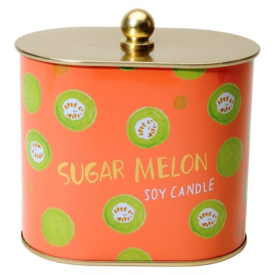 Fashionable Fruits Tin Candle Sugar Melon - 12 oz