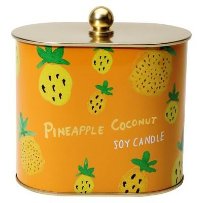Fashionable Fruits Tin Candle Pineapple Coconut - 12 oz