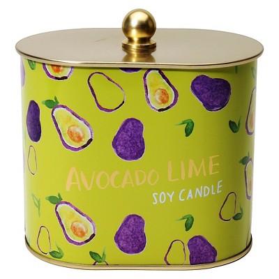 Fashionable Fruits Tin Candle Avocado Lime - 12 oz