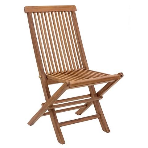 Zuo Regatta Folding Chair Set of 2 Tar