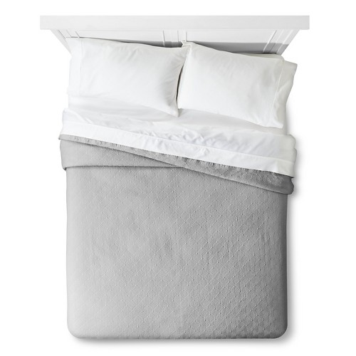 Fieldcrest King Size Bed Sheets: Matelasse Coverlete - Fieldcrest