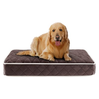 """Tavis Quilted Memory Foam Orthopedic Chocolate Napper Pet Bed (35x44+4"""")"""