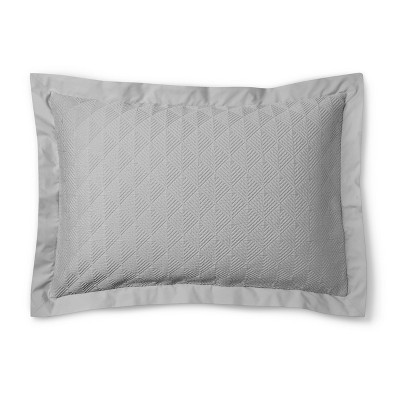 Matelasse Sham Standard - Gray - Fieldcrest™
