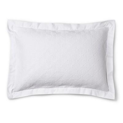 Matelasse Sham Standard - White - Fieldcrest™