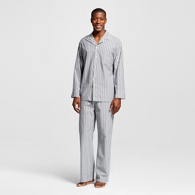 Men's Pajama Set Navy Stripe L - Merona™