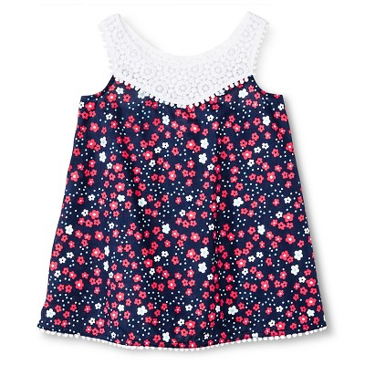 Baby Girls' Floral Cover Up Dress Nightfall Blue 12M - Circo™