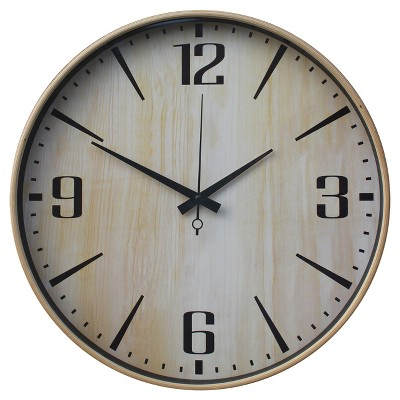 "Wall Clock Wood Grain 16"" - Threshold™"